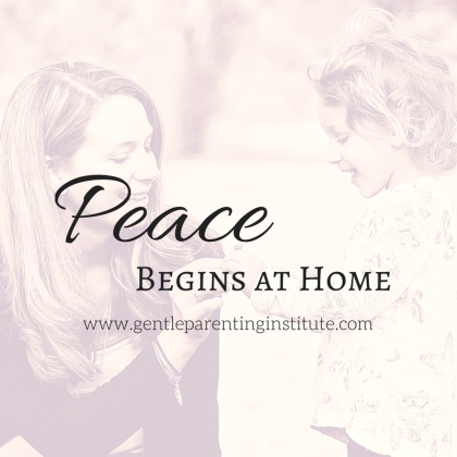 peace begins at home